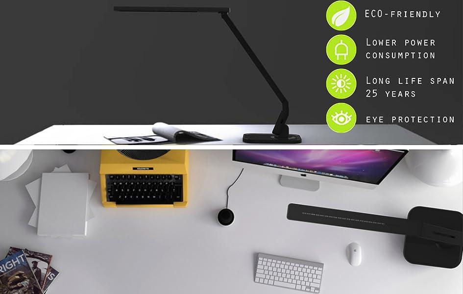 Lampat Dimmable Led Desk Lamp Black Amazon Com