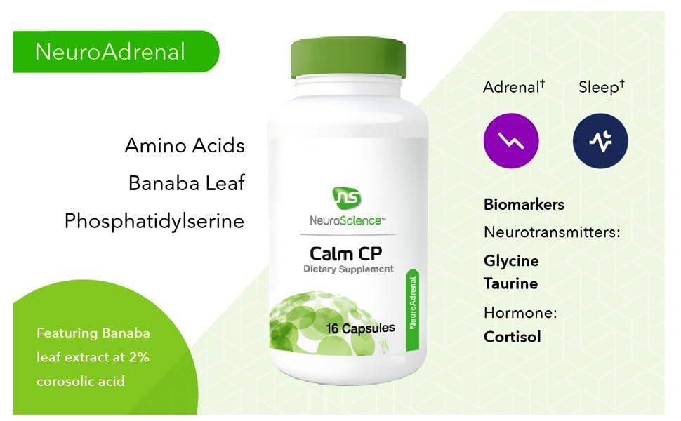 Amazon com: NeuroScience Calm CP - Cortisol Focused Adrenal