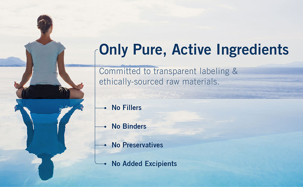 only pure, active ingredients