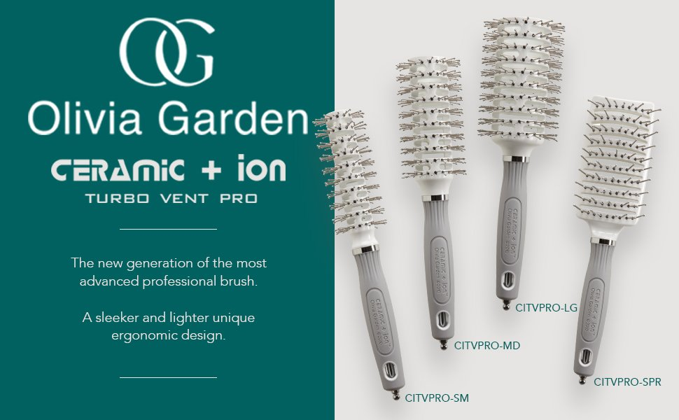 Keep your hair healthy, shiny and stylish with this Olivia Garden Ceramic and ion Turbo Pro Vented Hair Brush. This unique styling brush ...