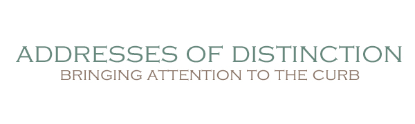 addresses of distinction, AOD, bringing attention to the curb, mailbox, neighborhood, US company,