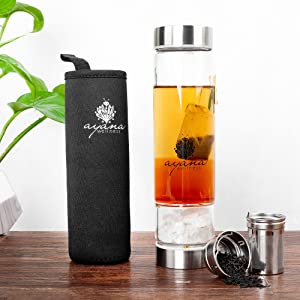 Amazon.com: Ayana Wellness - Botella de infusión de agua con ...