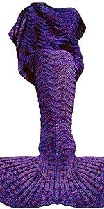 Super Soft Hand Crocheted Mermaid Tail Blanket Sofa Blanket ADULT Kid DIY S//M//L