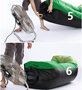 folding air bed reaches full inflation and firmness in under 1 minute no air pump needed just swing the lightweight bag to fill it with air