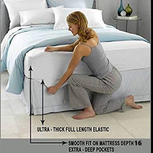 fitted bedsheet upto 16 inch depth