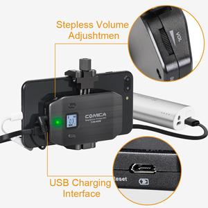 Amazon.com: Wireless Smartphone Microphone, Comica CVM-WS50A UHF 6 ...