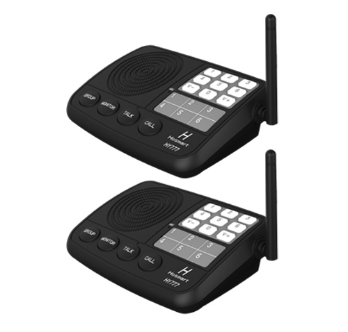 wireless intercom system hosmart 1 2 mile long range 7 channel security wireless. Black Bedroom Furniture Sets. Home Design Ideas