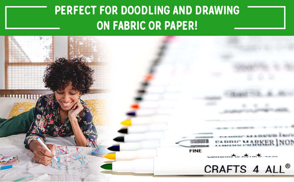 Perfect for doodling and drawing on fabric or paper!