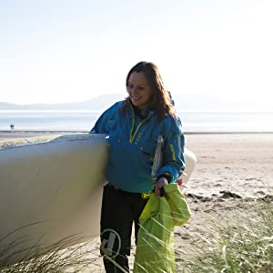 Aquapac drybag carried by Sian Sykes of Psyched Paddleboarding