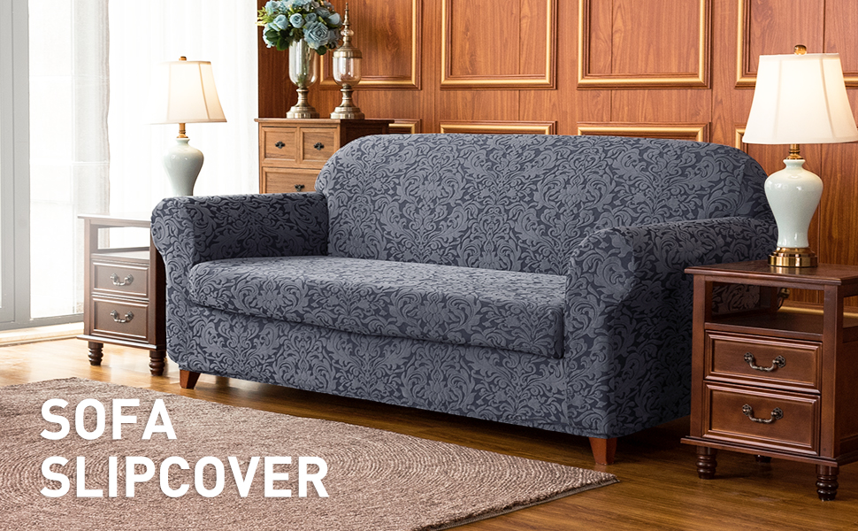 Details about Subrtex Printed 2 Piece Sofa Covers Elastic Couch Slipcover  Protector