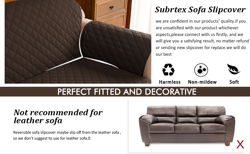 Astounding Subrtex Quilted Reversible Sofa Couch Slipcover Anti Slip Furniture Protector Chair Covers For Pets And Kids With Elastic Straps Loveseat Chocolate Pdpeps Interior Chair Design Pdpepsorg