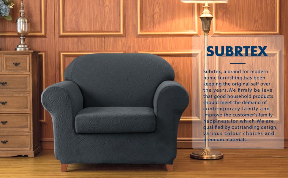 Amazon.com: Subrtex - Funda para sofá de 2 piezas con ...