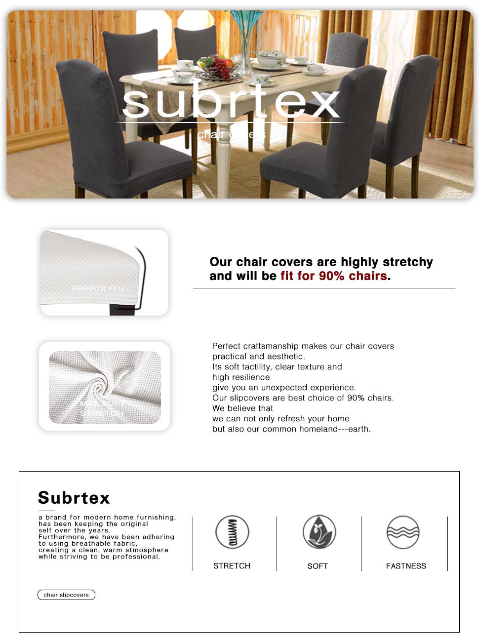 Product Description. Amazon com  Subrtex Jacquard Stretch Dining Room Chair Slipcovers