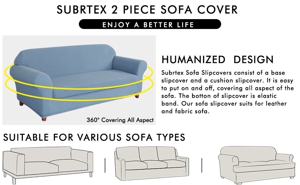 Stupendous Subrtex 2 Piece Spandex Stretch Slipcover Loveseat Steel Blue Onthecornerstone Fun Painted Chair Ideas Images Onthecornerstoneorg