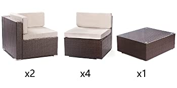 patio sectional 7 piece