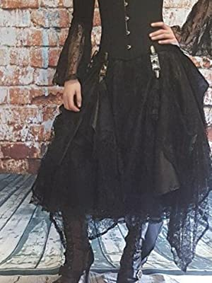 2be5133a1 Cosette 8080 with a Steampunk style lace skirt with skirt hikes and a  traditional steel boned corset