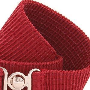EDS Womens Belt Brown Candy Colored Womens Fashion Belt Fluorescent Plastic