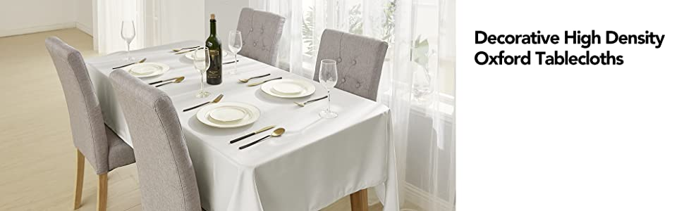 deconovo oxford table cloths for dining tables