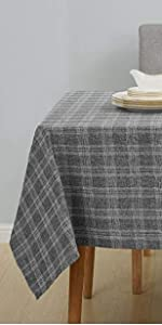 Deconovo Buffalo Check Plaid Rectangle Tablecloth Water and Wrinkle Resistant Plaid Tablecloths for