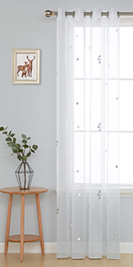 decorative grommet sheer line look curtains