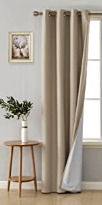 blackout curtains with coating