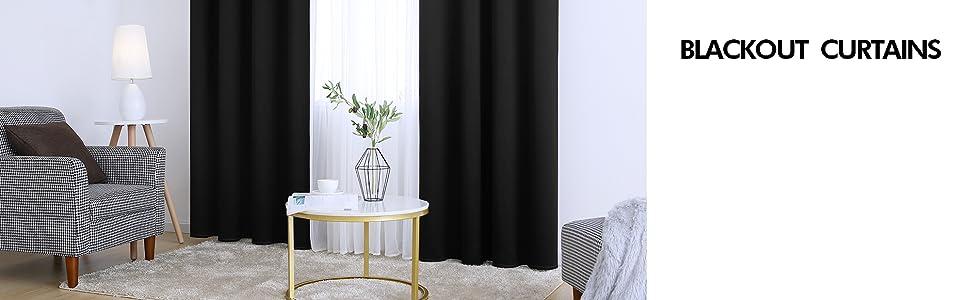 black blackout curtains