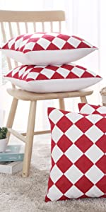 checkered cushion covers
