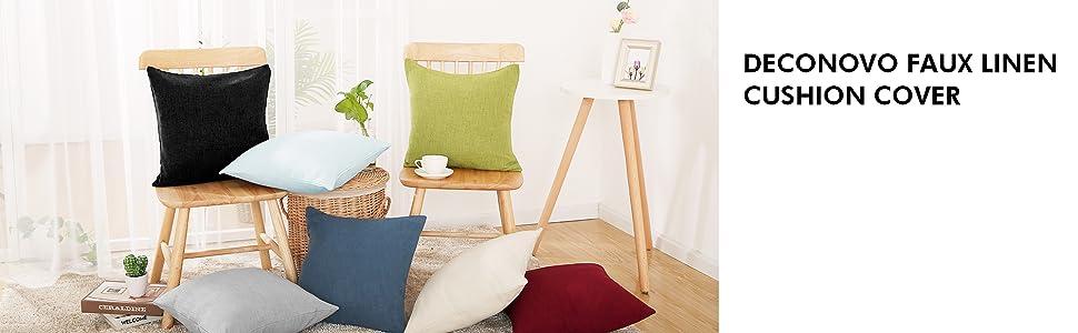 decorative throw pillow cover 18x18 deconovo cushion cover