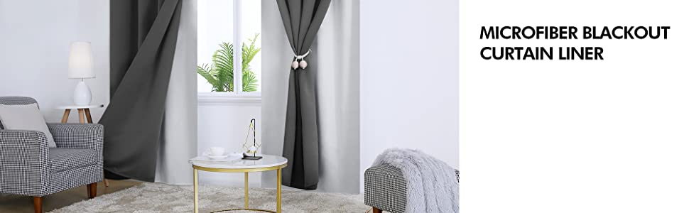 blackout curtain liner for windows