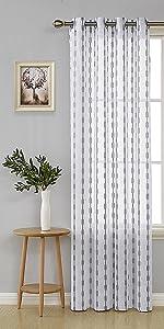 jacquard sheer curtains