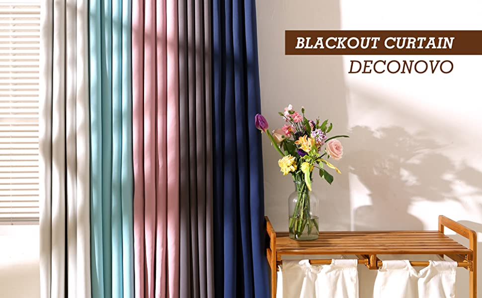amazon com deconovo window blackout curtains black grommet thermal