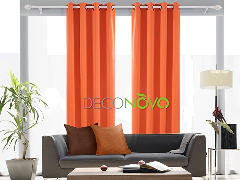 Deconovo Solid Blackout Curtains with Grommet Thermal Insulated Window Curtains Room Darkening Curtains