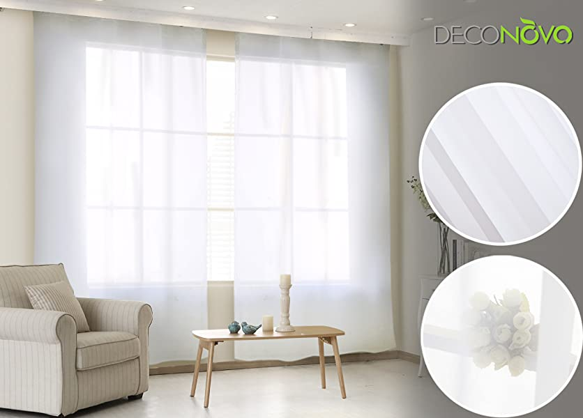 Gorgeous Grace And Ethereal Elegance Will Imbue A Delicate Sense Of Sophistication To Any Window Your Home With These Sheer Curtain Panels