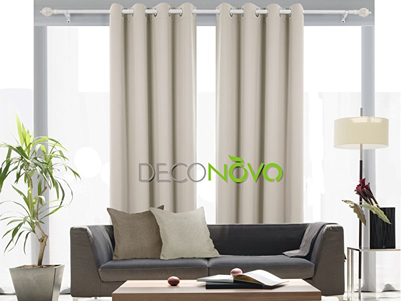deconovo room darkening thermal insulated blackout grommet window curtain panels sets