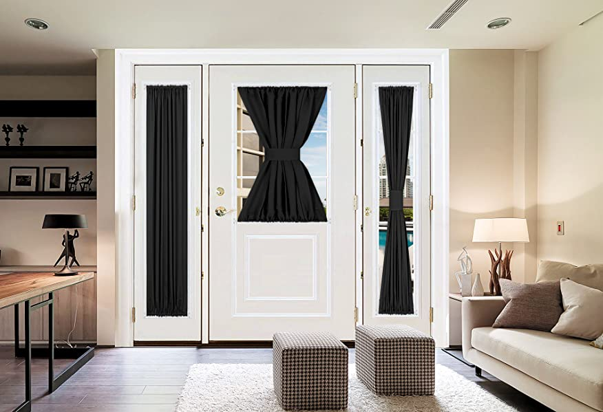 Deconovo Rod Pocket Thermal Insulated Curtains For French Door