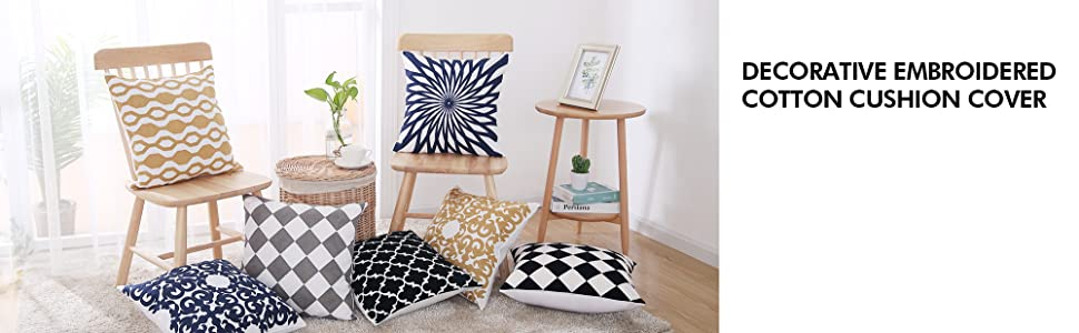 pillowcovers blue pillow case covers with zipper cushion covers for sofa