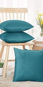 teal cushion cover