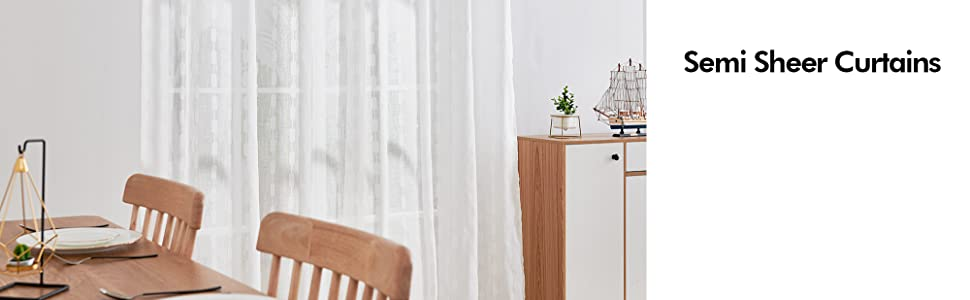 white sheer curtains for living room