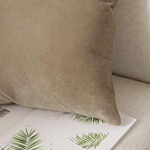 PILLOW COVERS CORDUROY CUSHION COVERS FOR SOFA