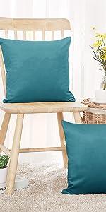 teal cushion covers