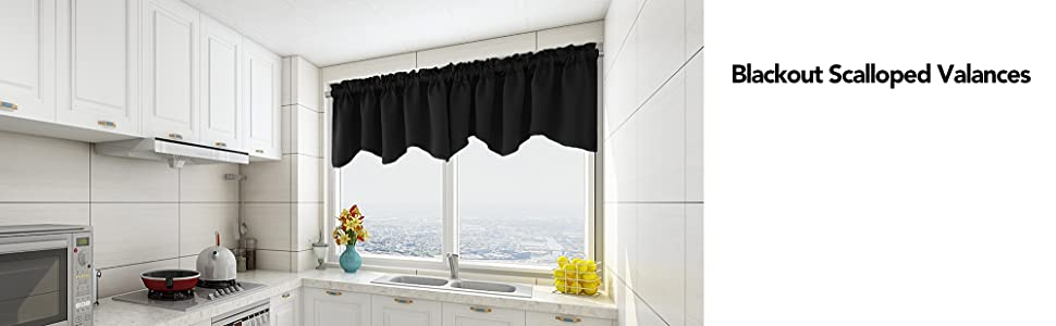 black valances for kitchen windows