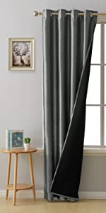 silk lined blackout curtains
