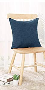 Faux linen cushion cover pillow cover outdoor indoor for sofa