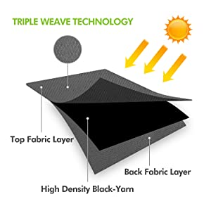 triple weave technology curtains