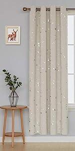 silver dots foil printed dots blackout curtains