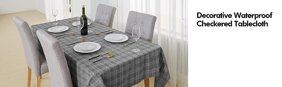 checkered table cloth BUFFLAO TABLECLOTH