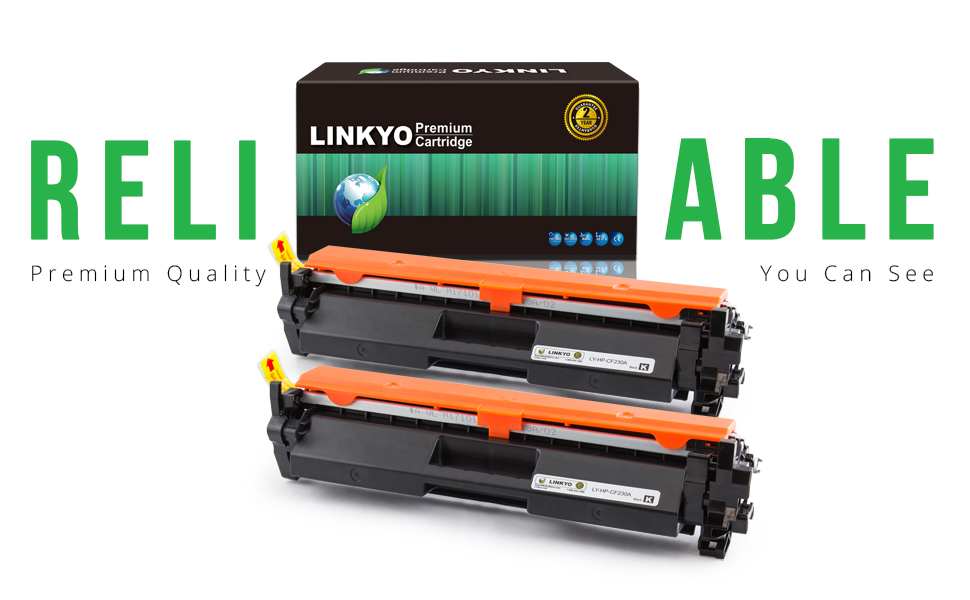LINKYO Replacement Toner Cartridge HP 30A CF230A 2 Pack