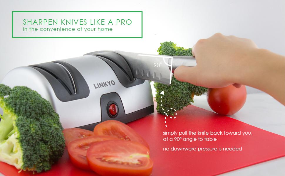 Amazon.com: Afilador eléctrico de cuchillos Linkyo ...