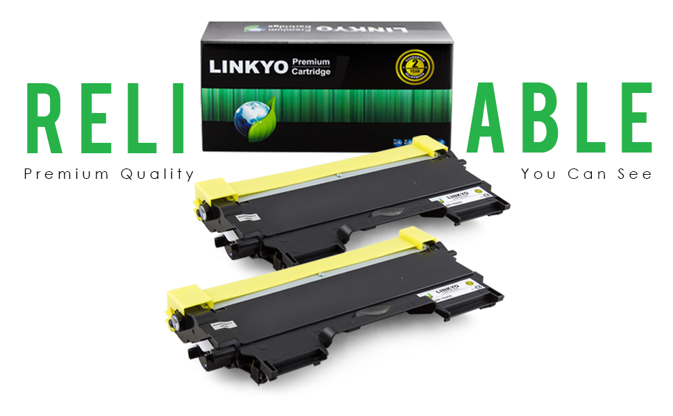 LINKYO Replacement Brother TN450 Toner Cartridges 2 Pack