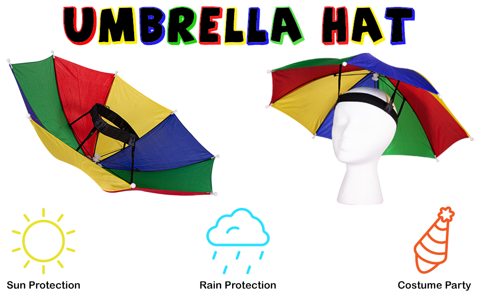 Umbrella Hat Rain Sun Costume Wheelchair